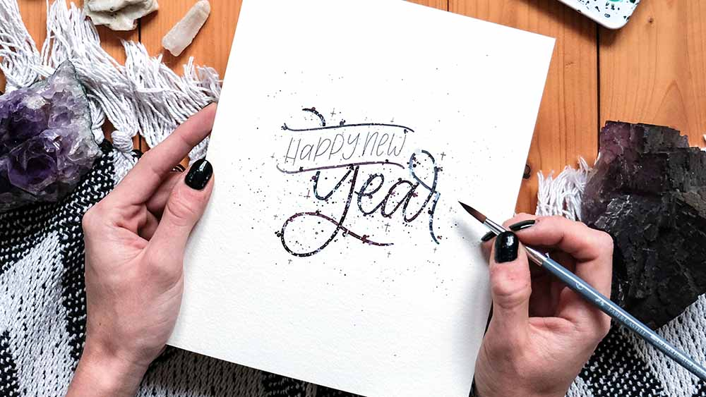 review-2019-new-year-lettering